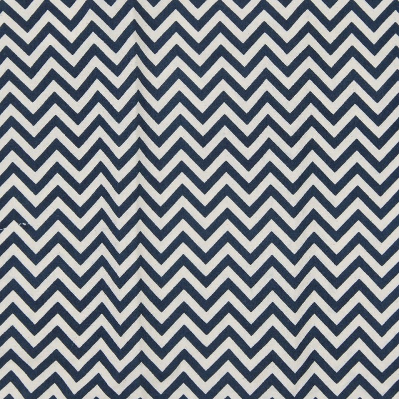 Natural Cotton CHEVRON indigo