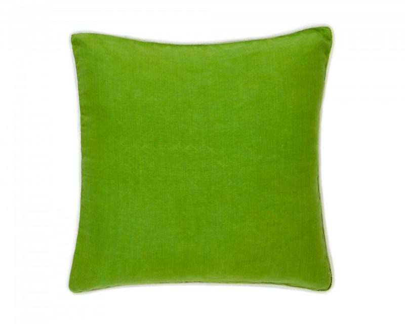 Parrot Green Solid Pillow