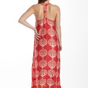 Alamwar Bukhara Red T-Back Dress