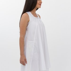 Alamwar Zara White Cotton Dress