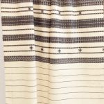 Charcoal & Shell Cotton Coverlet